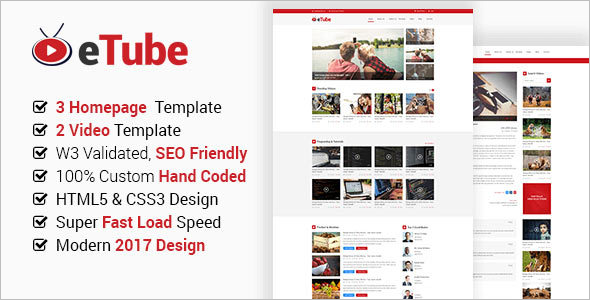 Magazine HTML5 Website Blog Template