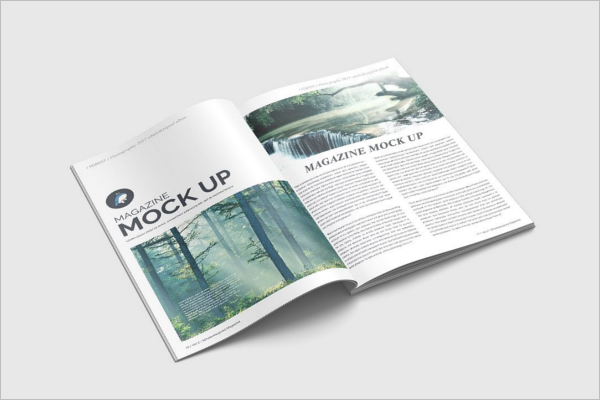 Magazine Mockup Design Vector