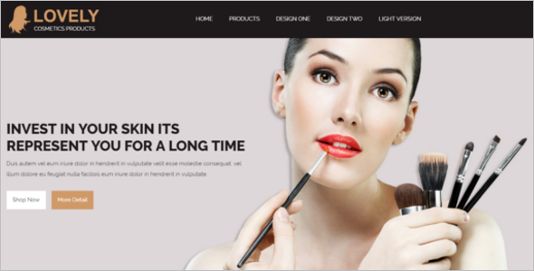 makeup template website