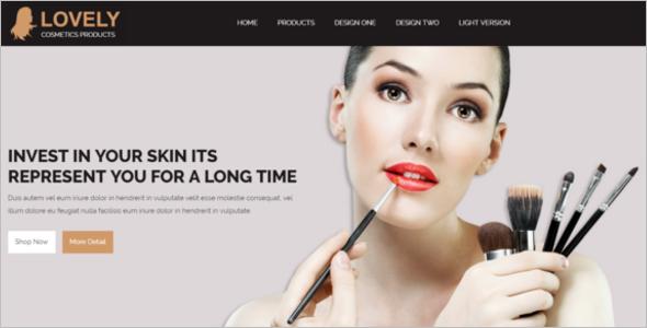 32  cosmetics website templates free  u0026 premium themes