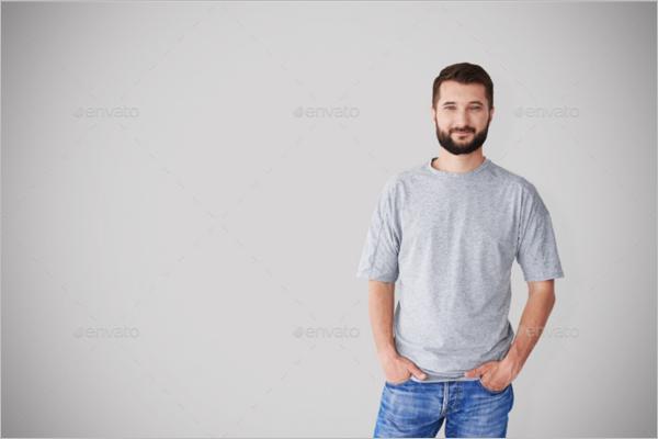 Man T-shirt Mockup Template