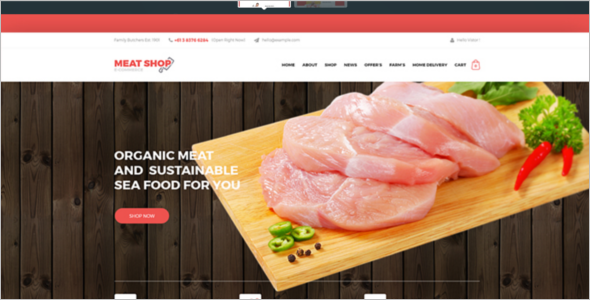 Meat Shop eCommerce Website Template
