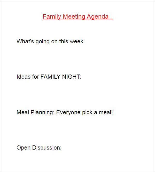 Meeting Agenda Sample Doc