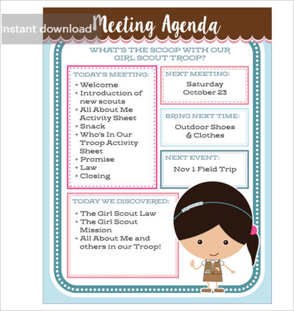 Meeting Agenda Template Excel