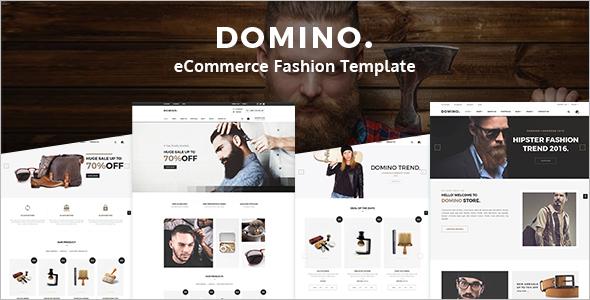 Men Fashion ECommerce Website Template