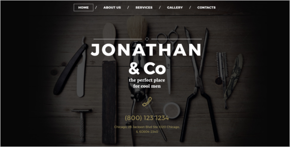 Men's Salon Website Template