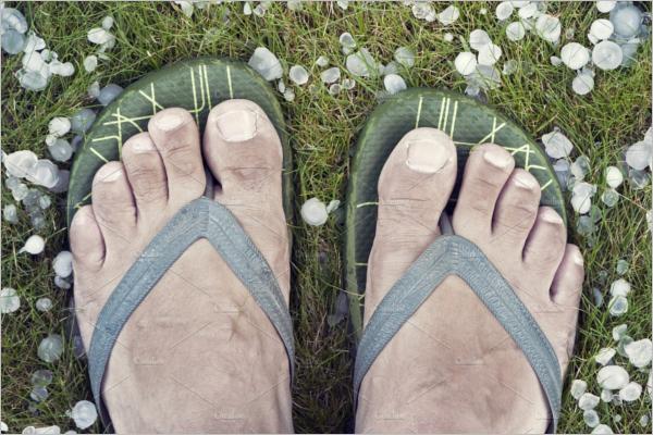Men's Sandals Mockup Design