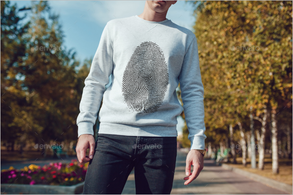 Men's Sweatshirt MockUp Template