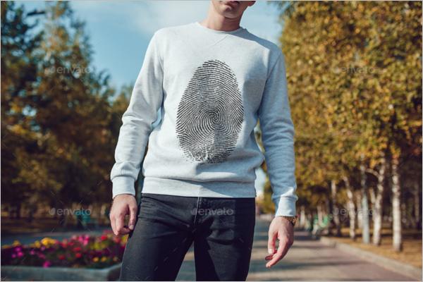 Men's Sweatshirt MockUp Template