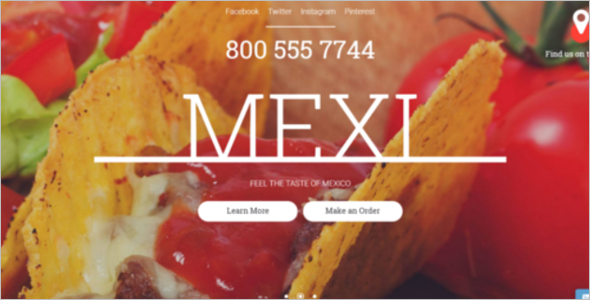 Mexican Restaurant Website Template