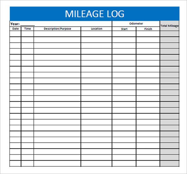 Mileage Log PDF