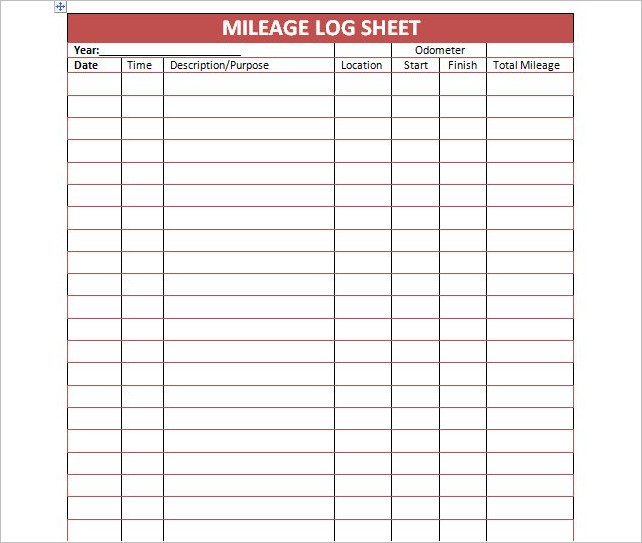 mileage log template 44 mileage log templates free word excel pdf format 23658