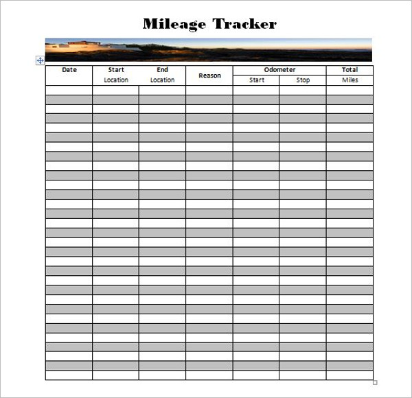 44 mileage log templates free word excel pdf format