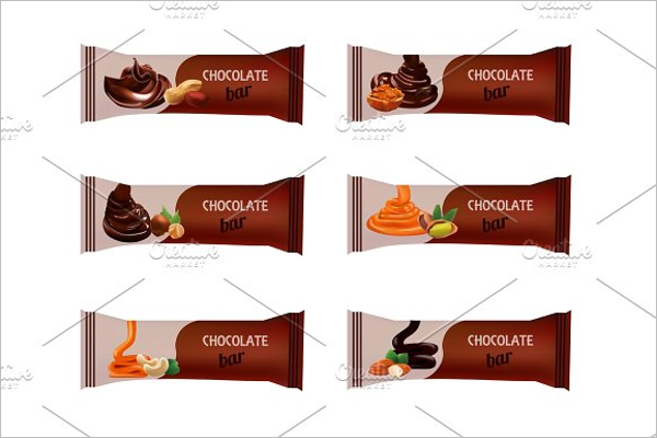 Minimal Chocolate Bar Mockup Template