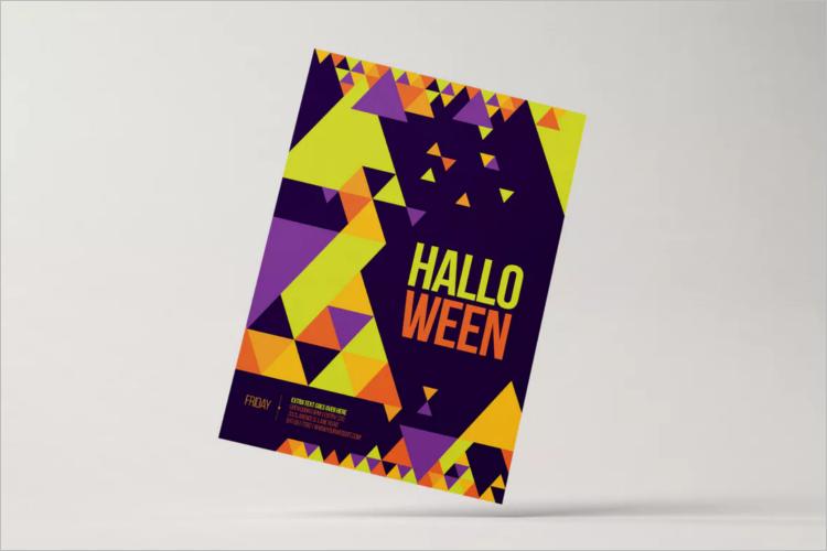 Minimal Halloween Poster Template