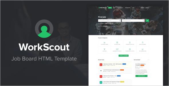 Minimal Job Portal HTML Template