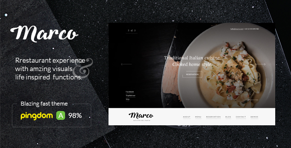 Minimal Restaurant Cafe Website Theme