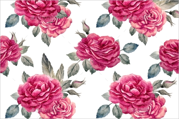 Minimal Rose Seamless Pattern
