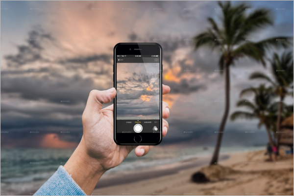 Mobile Camera Mockup Design
