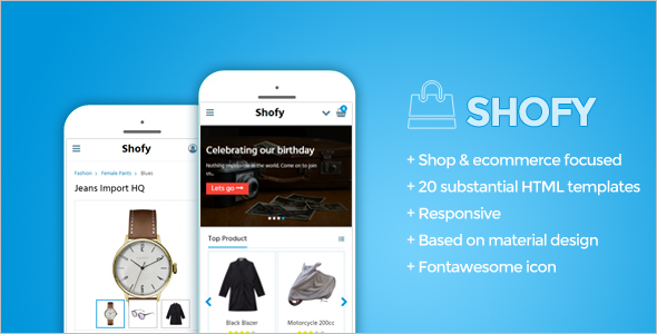 Mobile Ecommerce Website Template