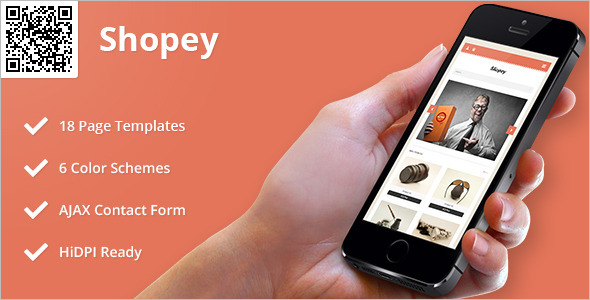 Mobile HTML eCommerce Template