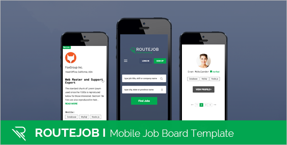 Mobile Job Board Template