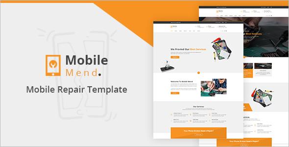 Mobile Repair Shop HTML Template