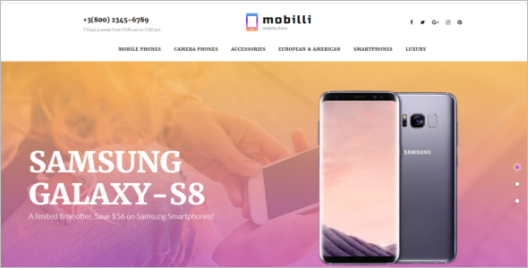 Mobile Store Responsive Ecommerce Template