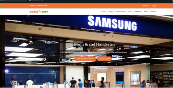 Mobile Supermarket WordPress Theme