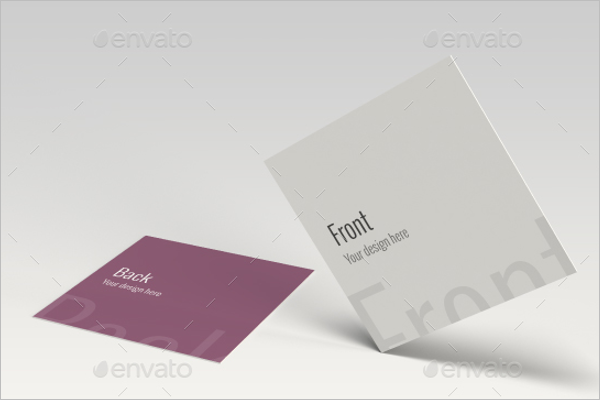 Mockup Business Card Square Design