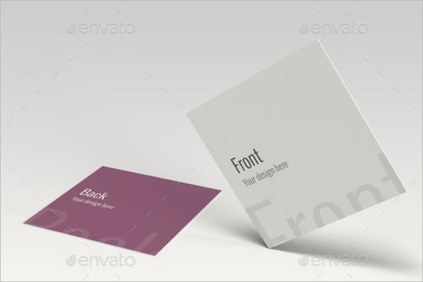 Mockup Business Card Square Design