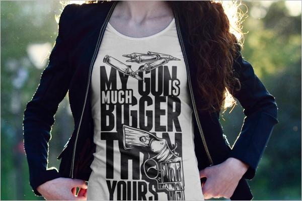 Model T-shirt Mockup Design