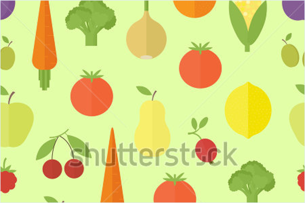 Model Vegetable Pattern Design