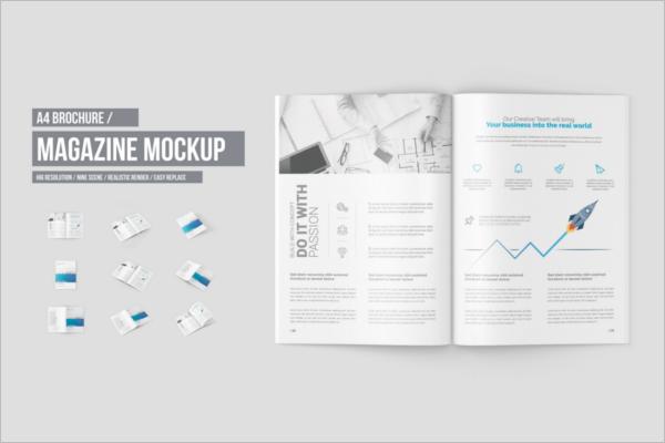 ModernA4Magazine Mockup Design