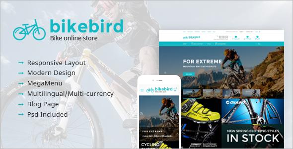 Modern Bike Website Template