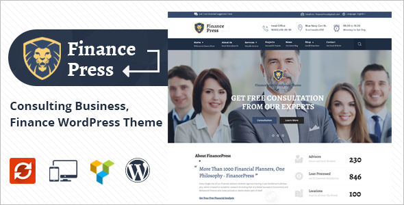 Modern Consultant Business WordPress Theme