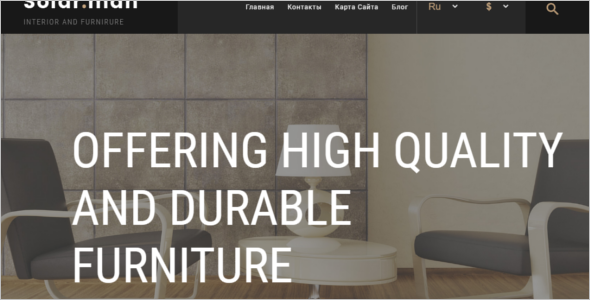 Modern Furniture Ecommerce Template