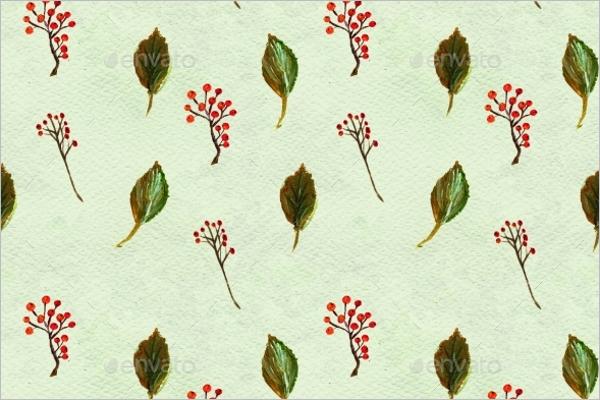 Modern Leaves Seamless Pattern