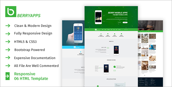 Modern Mobile Phone HTML Template