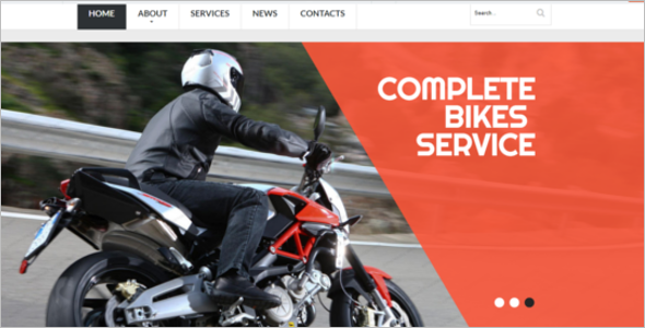 Modern Motorcycles Website Template