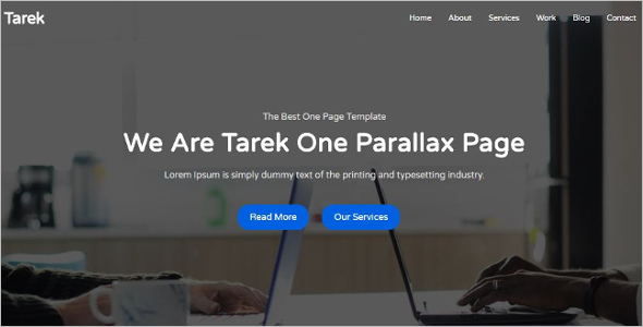 Modern One Page Parallax HTML Template