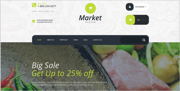 Modern Supermarket WordPress Theme