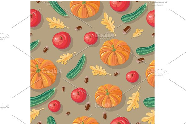 Modern Vegetable Seamless Pattern