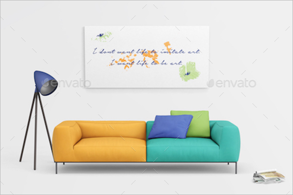 Modern Wall Poster Mockup Design