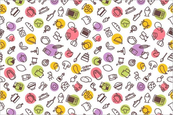 Modern kitchen pattern vector