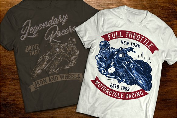 Motoracer T-Shirts Mockup Template