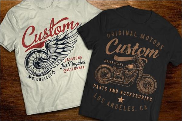 Motorcycle T-Shirt Mockup Template