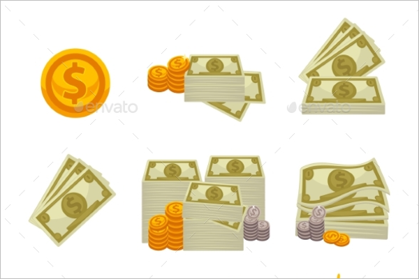 Multi Dollar Background Vector