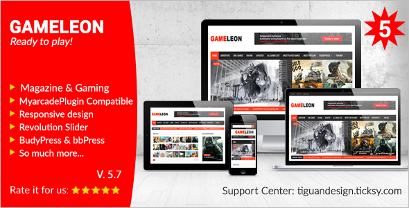 Multipurpose Gaming WordPress Theme