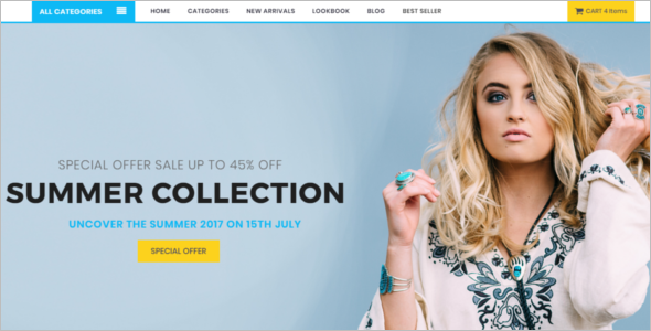 Multipage Fashion Store Website Template
